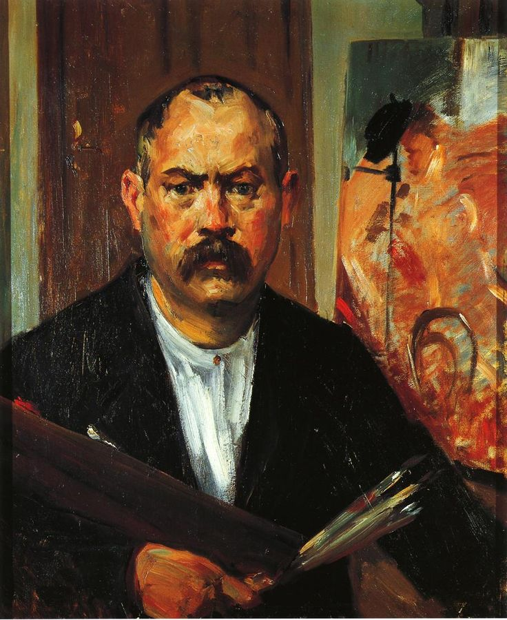 The Athenaeum - Self Portrait without Collar (Lovis Corinth - )
