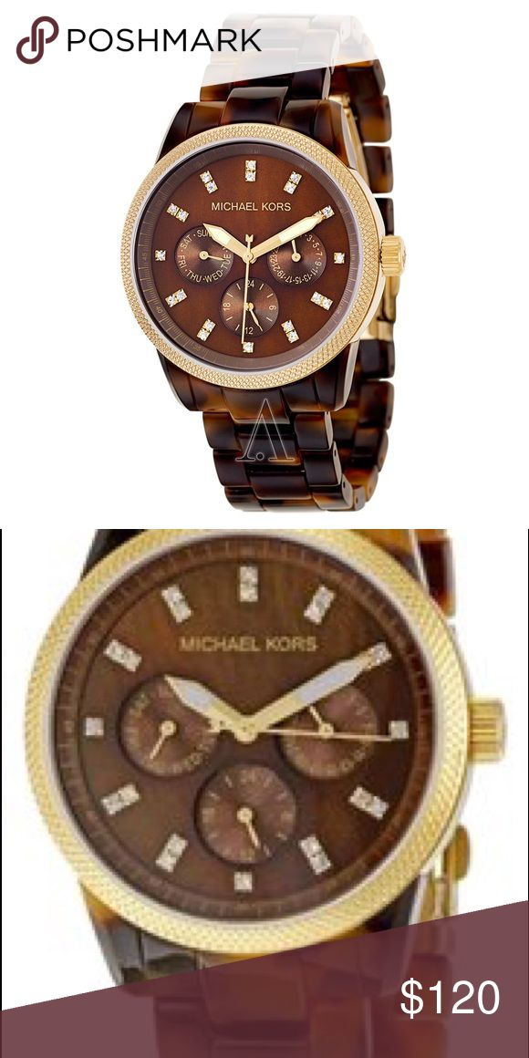 Michael Kors Tortoise Watch Michael Kors Tortoise watch has been sized to fit my wrist but I will send the extra links Michael Kors Accessories Watches
