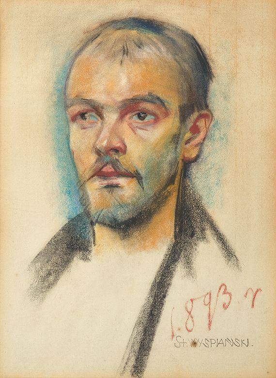 Stanisław Wyspiański - Portrait of a man  pastel, paper