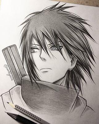 how to draw sasuke eyes