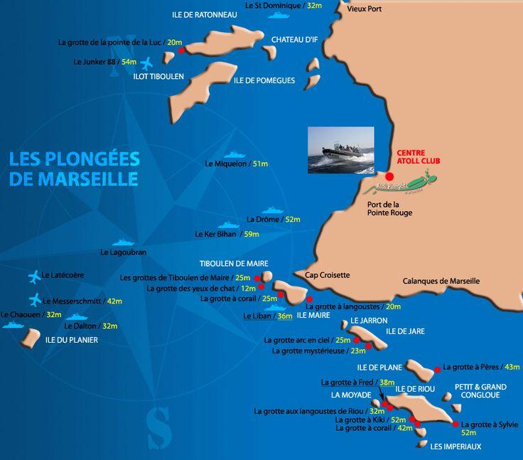 Les sites - Atoll Plongée Marseille : Centre de plongee et de formations (13)