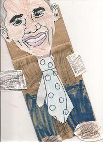 Barack Obama Craft for kids preschool - Black History Month
