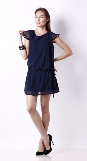 ravishing navy blue chiffon dress... available at affordable price @ 999 buy online at www.snapdeal.com also you can inbox on www.facebook.com/hermosear