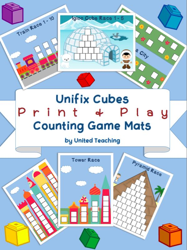 Unifix Cubes Print & Play Counting Game Mats