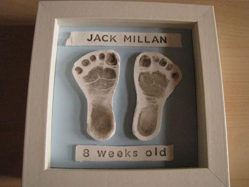 DIY Baby Footprint Keepsake by Kirsten Earl, marthastewart...