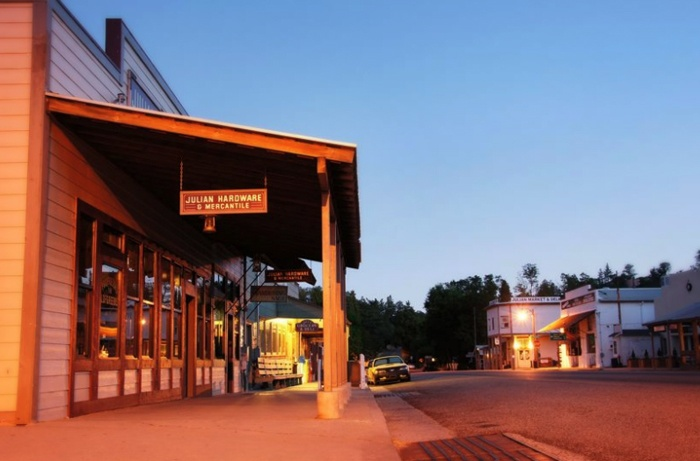 Julian, California. Quaint mountain town in california. Beautiful in the Winter and home of famous apple pies.