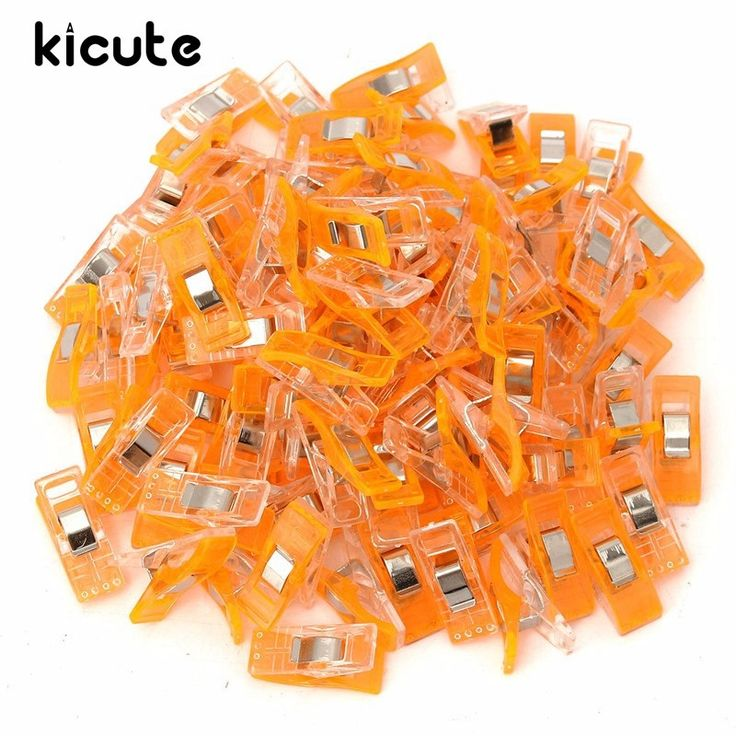 Kicute 100pcs Color Plastic Binder Quilting Clips Clamps For Patchwork Sewing Craft Quilt Wonder Clips Clamp DIY Color Random