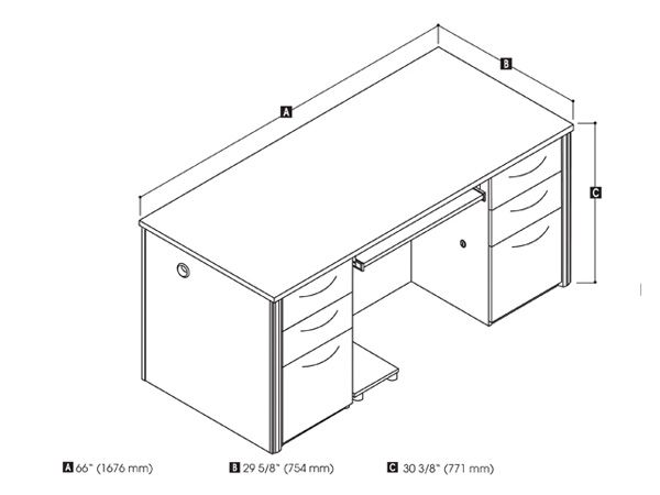 standard office desk dimensions Google Search