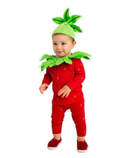 Strawberry Costume | October 31 seems to creep up on us every single year. Still set on treating Junior to that one-of-a-kind disguise? Frightened by the idea of making your own costume from scratch? Don't be. Get into the spirit with creative ideas that can pulled together with cupcake liners, coffee filets, and more household items. We know it's tempting to just give up and head to the Halloween store for some packaged kid costumes, but just think about how unique your child's outfit will…