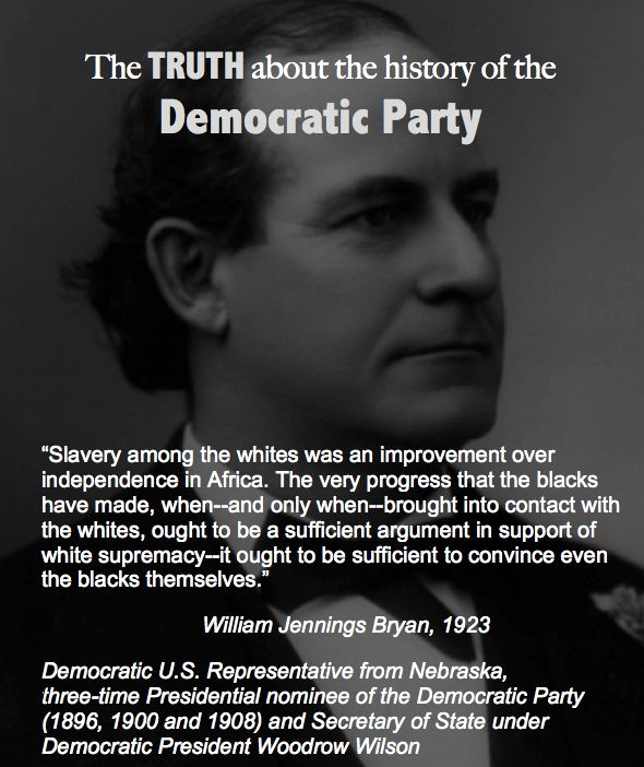 William Jennings Bryan, Democratic U.S. Representative from Nebraska,  three-time Presidential nominee of the Democratic Party (1896, 1900 and 1908) and Secretary of State under Democratic President Woodrow Wilson