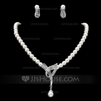 Jewelry - $9.99 - Hottest Alloy With Pearl/Rhinestone Women's Jewelry Sets (011019402) http://jjshouse.com/Hottest-Alloy-With-Pearl-Rhinestone-Women-S-Jewelry-Sets-011019402-g19402?pos=recommendations_12