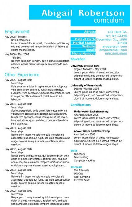 free download resume templates