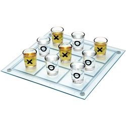 THIS adult Tic-Tac-Toe Game takes on a whole new level of what we once innocently played as kids! In this version it becomes increasingly difficult as the game progresses well..ahem.. only when you lose! Enjoy observing who has the skill to play this simple game after a few shots! Great idea for Frat parties! Features: Glass game board with 9 Glass Shot Glasses.