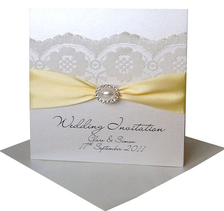 Pearl And Lace Wedding Invitations: Pearl And Lace Wedding Invitation