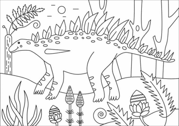 Huayangosaurus Coloring Page Dinosaur Coloring Pages Bear Coloring Pages Dinosaur Coloring