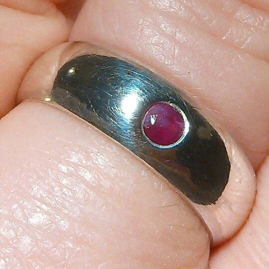 Another sterling silver ring with a beautiful ruby