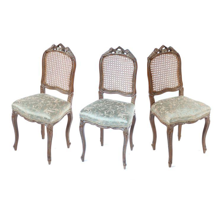 Three 19th Century French Oak Ballroom Chairs
