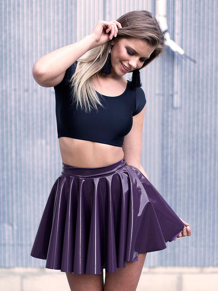 Cyber Grape Cheerleader Skirt - LIMITED (WW $70AUD / US $56USD) by Black Milk Clothing