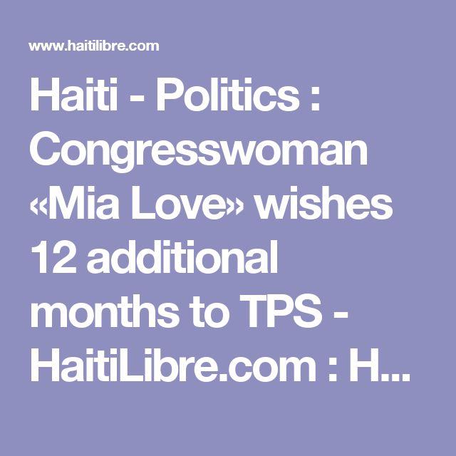 Haiti - Politics : Congresswoman «Mia Love» wishes 12 additional months to TPS - HaitiLibre.com : Haiti news 7/7   http://www.meganmedicalpt.com/fmcsa-walk-in-cdl-national-registry-certified-medical-exam-center-in-philadelphia.html
