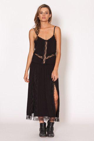 Amilita - Soraya Maxi   black   lace   dress   cutout   summer   festival   bohemian   boho   gypsy style   Paved Paradise