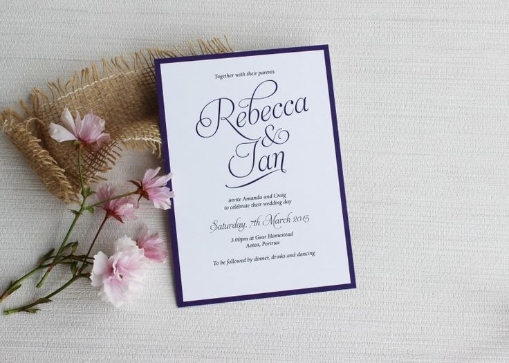 Wording Wedding Invitations