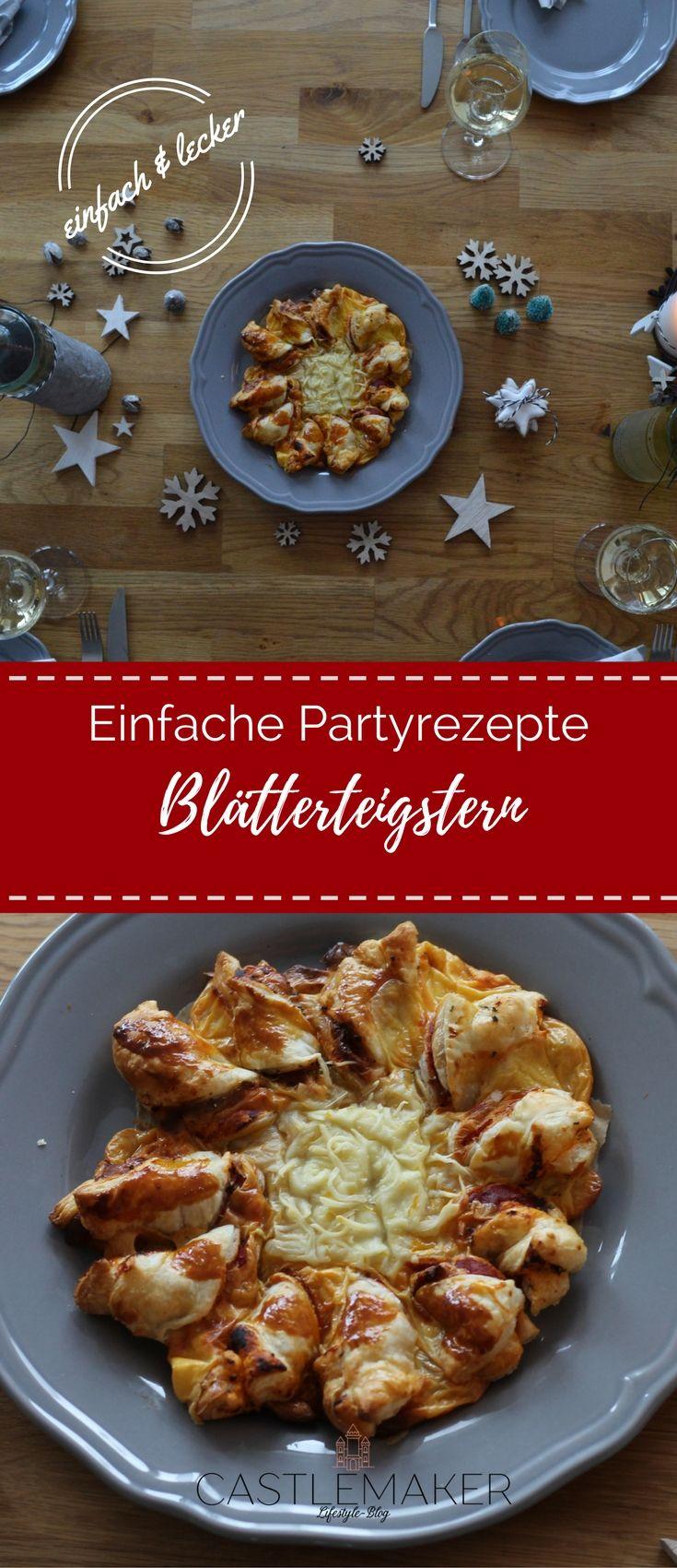 Der Hit auf jeder Party. Blätterteigstern mit Pizzafüllung. Pizzastern, Blätterteigstern. Das geht einfach und schnell. Das Rezept ist auf meinem Blog. #partyrezepte #tischdekoration #wein #bree  #anzeige