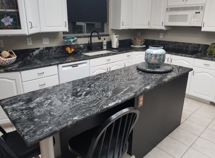 This Is Such A Beautiful Granite Countertop Called Blizzard From