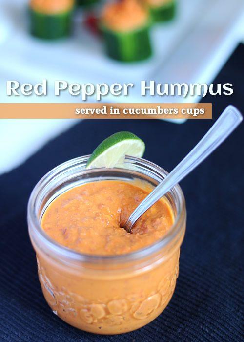 2 peperoni rossi 1 scatola di ceci (425gr) 60ml di limone 60gr di tahini 1 spicchio d'aglio 2 cucchiai d'olio d'oliva mezzo cucchiaino di cu...