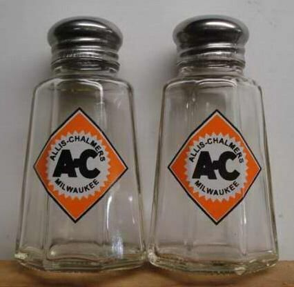 Charming Set of 2 Allis Chalmers Tractors Salt and Pepper Shakers in Collectibles, Advertising, Agriculture | eBay