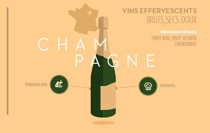 Deux infographies pour tout savoir sur les vignobles du nord et du sud de la France : type de vin...