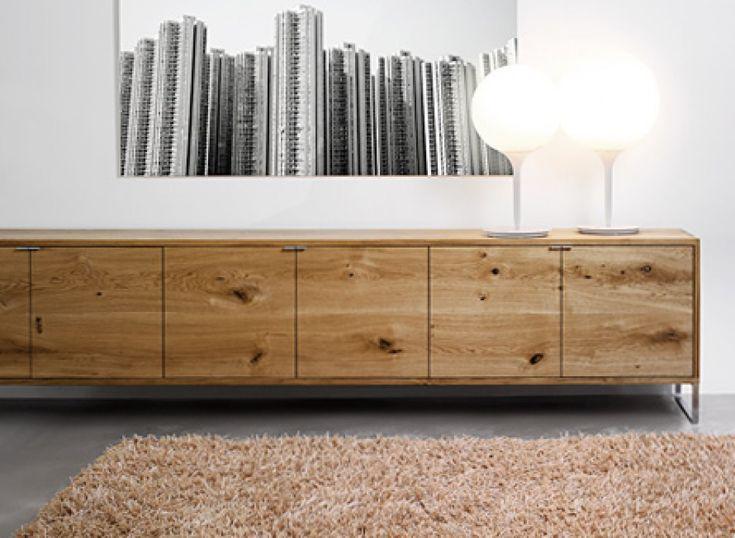 Die besten 25+ Sideboard eiche Ideen auf Pinterest Anrichte - wohnzimmerschrank eiche rustikal