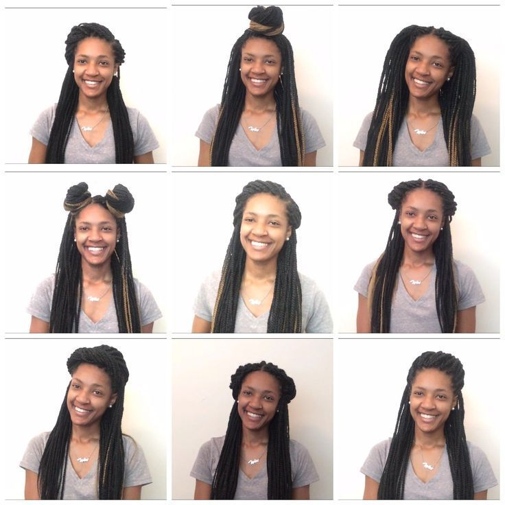 Hairstyles With Box Braids African 10 Easy Box Braid Hairstyles Half Up Half Africa Box Braids Hairstyles Box Braids Styling Braided Hairstyles