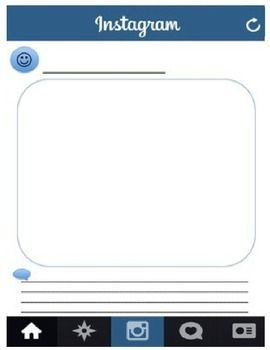 Blank Instagram Template I Had Students Use This To Create