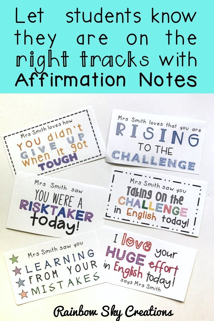 Growth Mindset Student affirmation cards for students. Positive feedback. Ideal for back to school. Positive praise. Celebrate students' efforts. Affirmation notes for students. #kindnessmatters #growthmindset #teacherspayteachers #aussieteachers