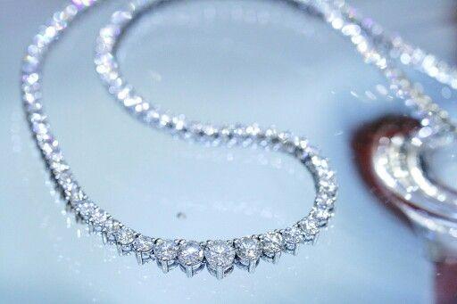 Beautiful diamond necklace.. 12cts.. #diamonds #necklaces