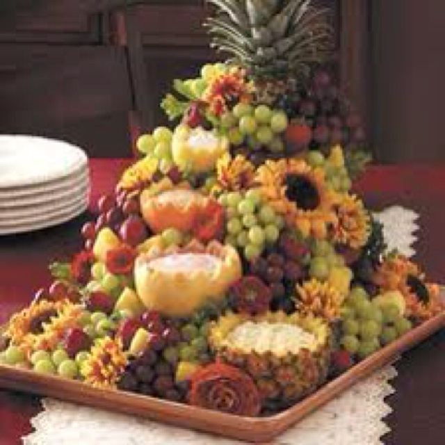 Fruit fountain...I have made this for many parties - always a hit!