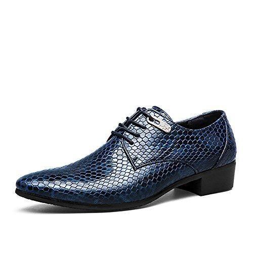 Oferta: 69.99€ Dto: -59%. Comprar Ofertas de ASHION Zapatos de negocios de vestir de boda plana de Oxford zapatos para hombres (43 EU, Azul) barato. ¡Mira las ofertas!