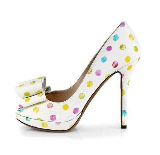 Love these fun and flirty Palter DeLiso spotted high heels.