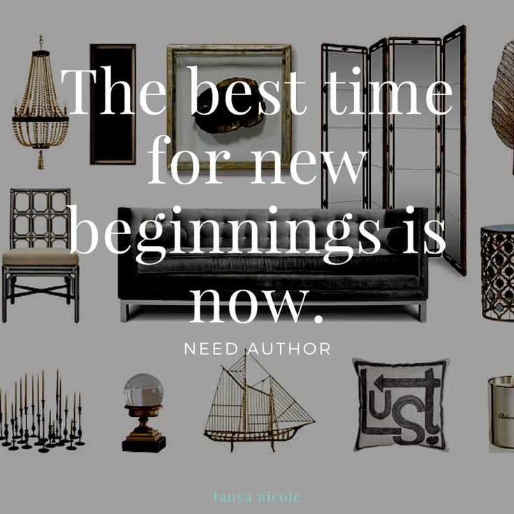 The best time for new beginnings is now. need author tanya nicole