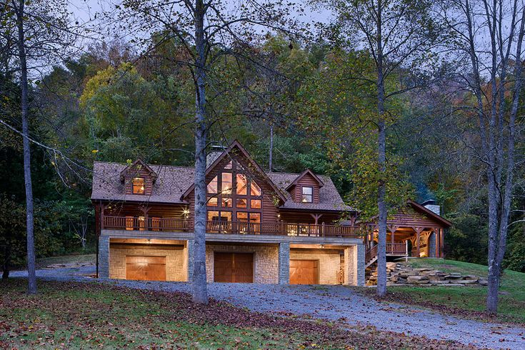 Bellewood Plan Modified | Log Homes, Timber Frame and Log Cabins by Honest Abe