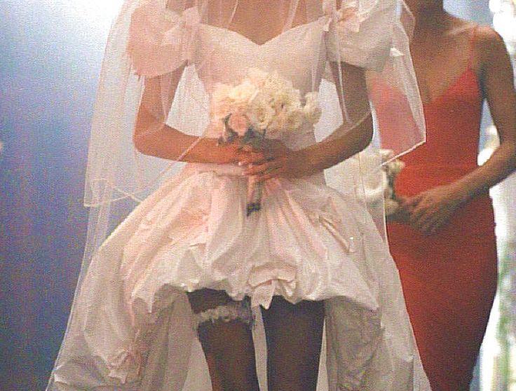 Stephanie Seymour's rock 'n' roll wedding dress in 'November Rain' video