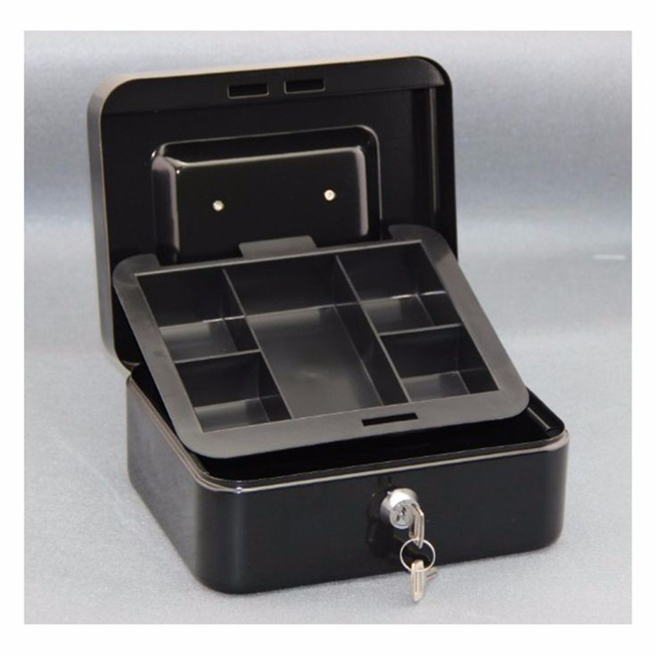 13.15$  Buy here - http://aliqe8.shopchina.info/go.php?t=32800747820 - NEW Black Metal Petty Cash Boxes Change Tray Money Holder Security Safe Mini Portable Steel Petty lock Cash Safe Box  #magazineonlinebeautiful