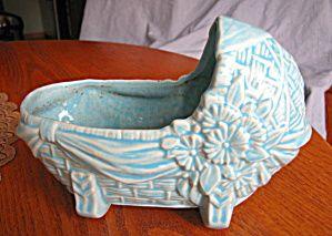 Vintage McCoy Pottery Cradle Planter