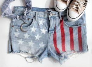 Δημοσίευση εικόνα για την αμερικανική σημαία Σορτς DIY με michelleeeeee