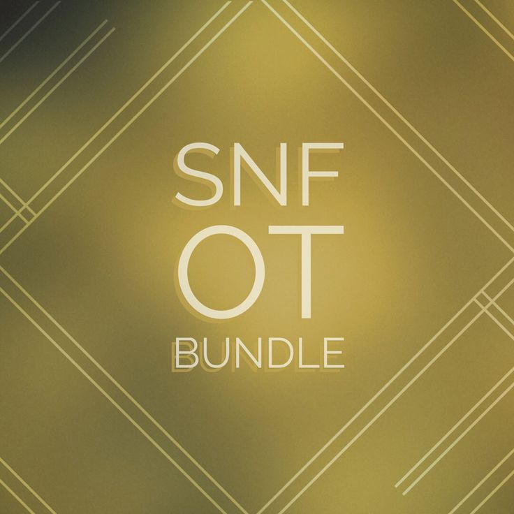 Save 30% and get all 11 SNF OT documents in a bundle! Purchased  individually the total for these forms would be $43.89.  There is never enough time for occupational therapists to get everything  done when working in a SNF!This bundle of forms is the ultimate resource  for clinical organizati