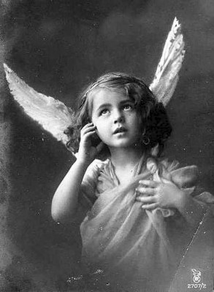 Vintage Picture of Girl with Angel Wings | Vintage (Hi-Res ...