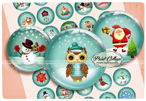 Buttons Pinback Digital Printable Images for Button machine 1.313 inch Flatback Buttons Flair Buttons Clip art Winter b147 by printcollage. Explore more products on http://printcollage.etsy.com
