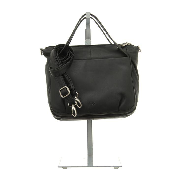 NEU: Voi Leather Design Handtaschen Kurzgrifftasche - 20761 SZ - schwarz -