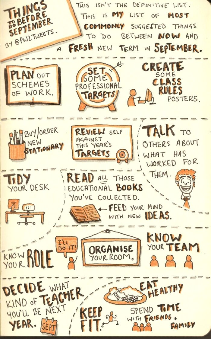 EduSketchNotes - what you can be doing to prepare for september