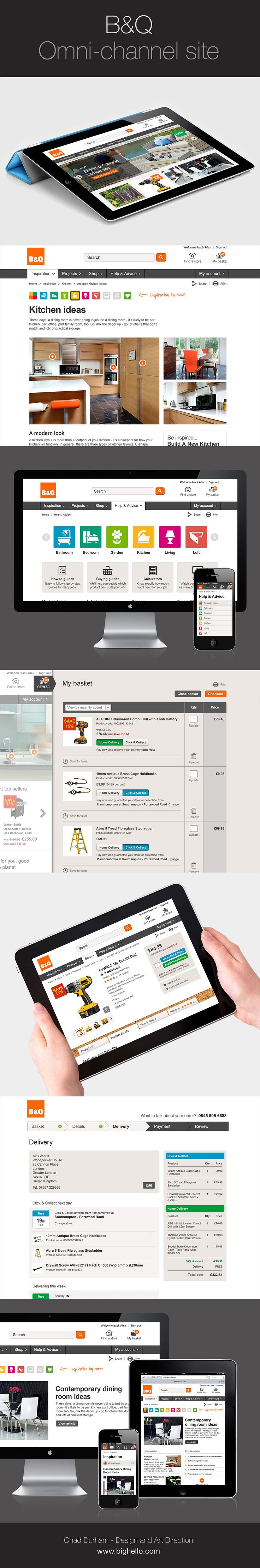 B&Q website in top 15 of the best responsive sites from 2014. UI design by Chad Durham of Big Hello Design.